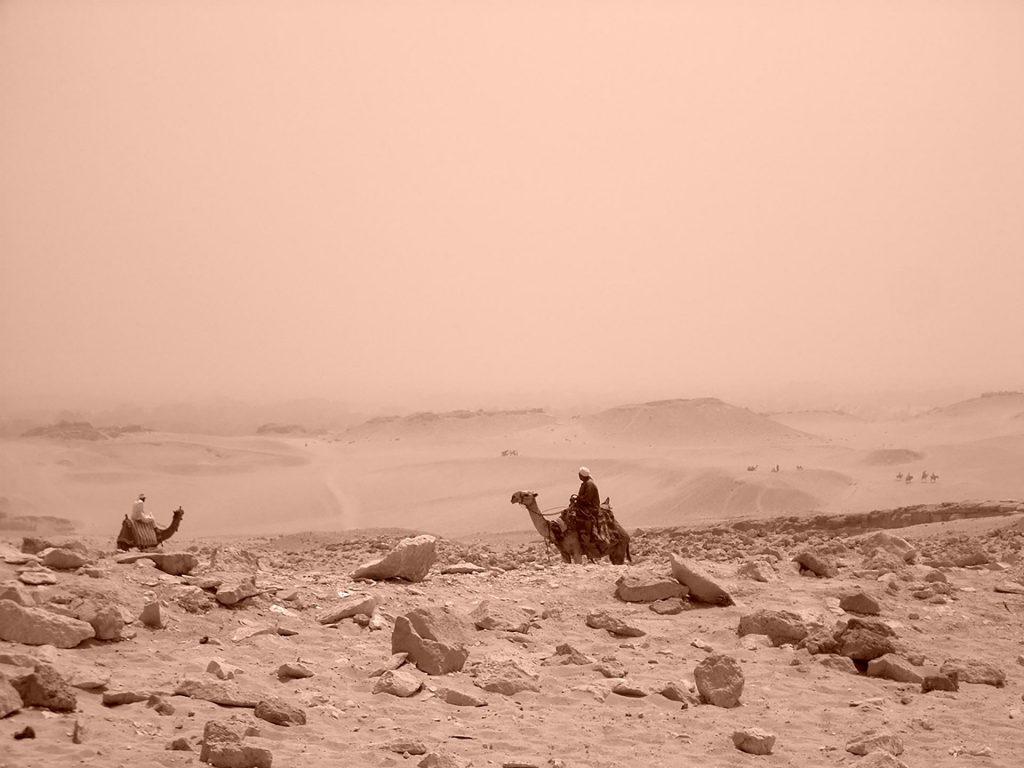 Deserto intorno alla Piana di Giza, Egitto