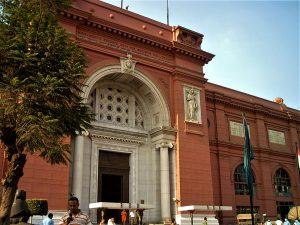 Entrata del Museo egizio, Il Cairo, Egitto