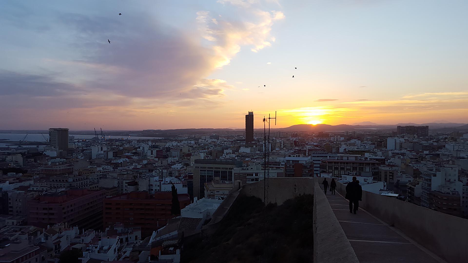 Tramonto su Alicante