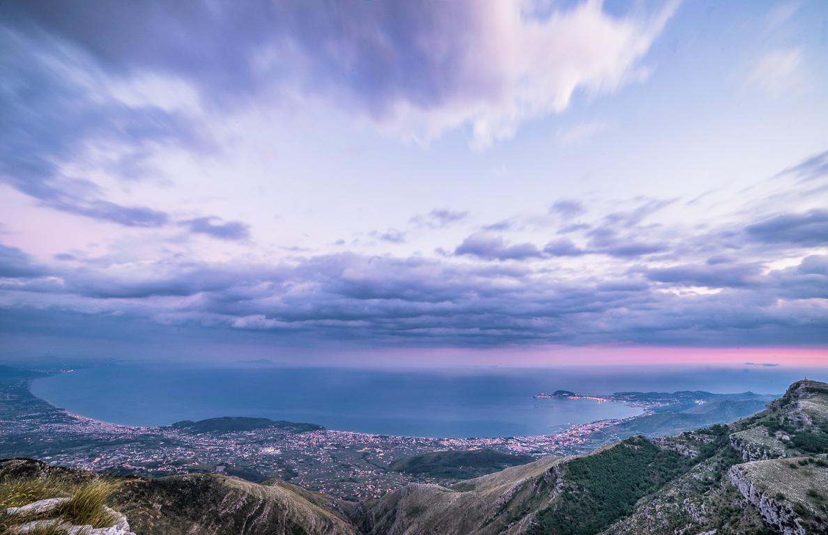 Tramonto sulla Riviera di Ulisse dai Monti Aurunci
