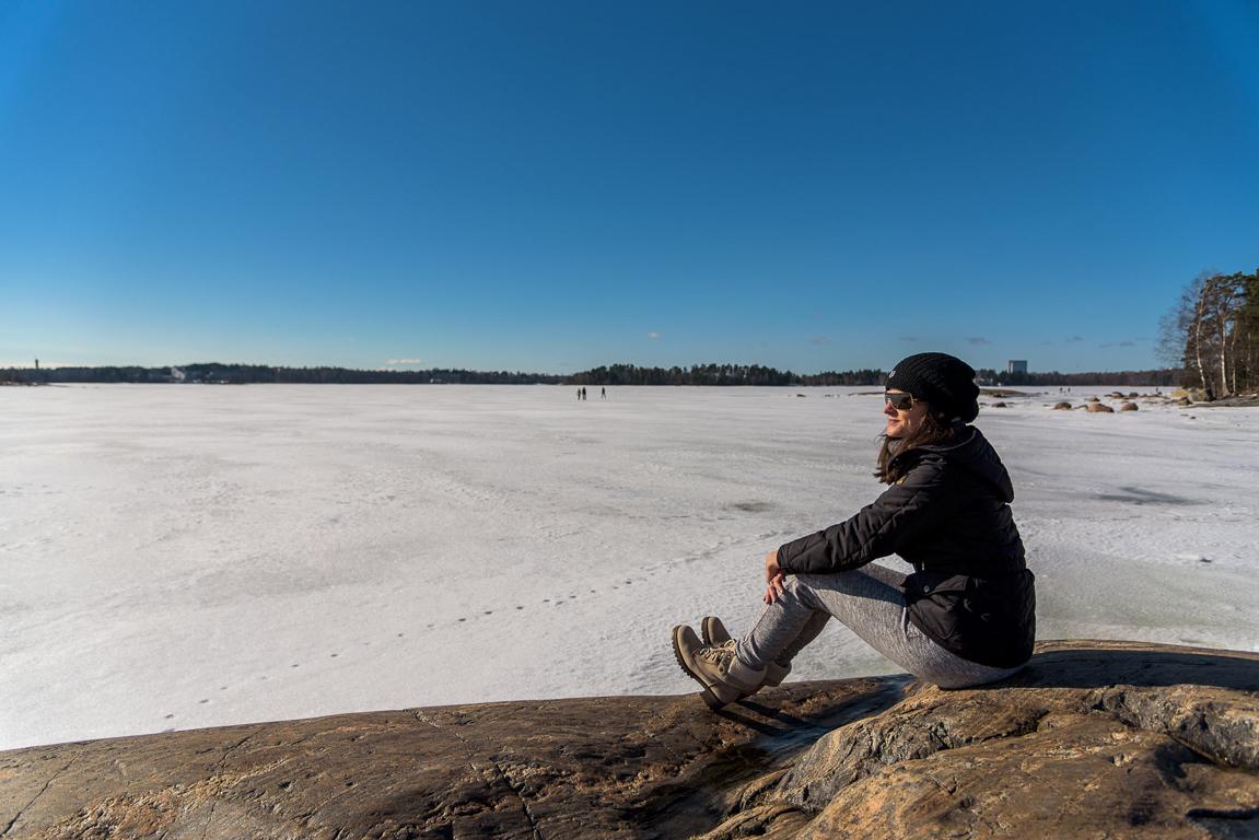 Baia ghiacciata a Saurasaari