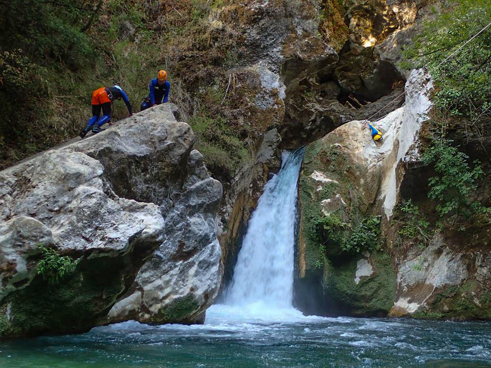Canyoning sull'Aniene