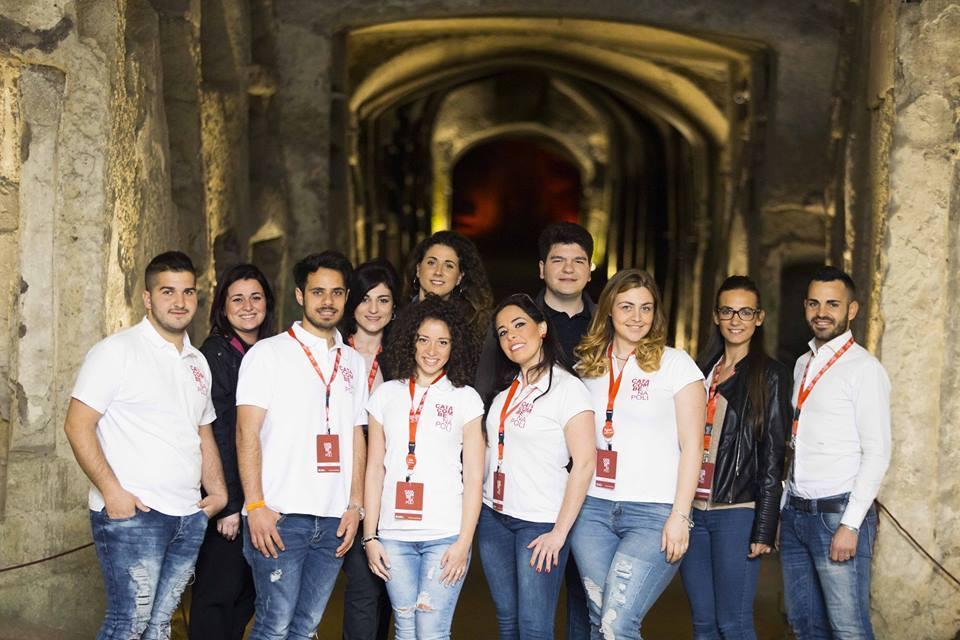 I ragazzi della Cooperativa La Paranza (foto presa dalla fanpage Catacombe di Napoli)