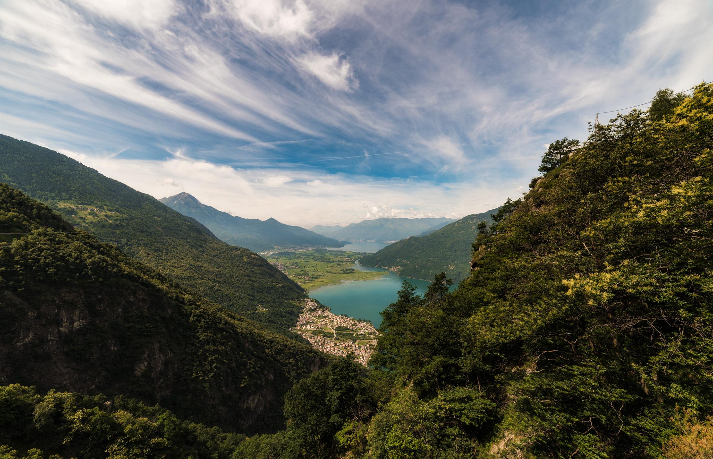 Panorama dal Sentiero del Tracciolino