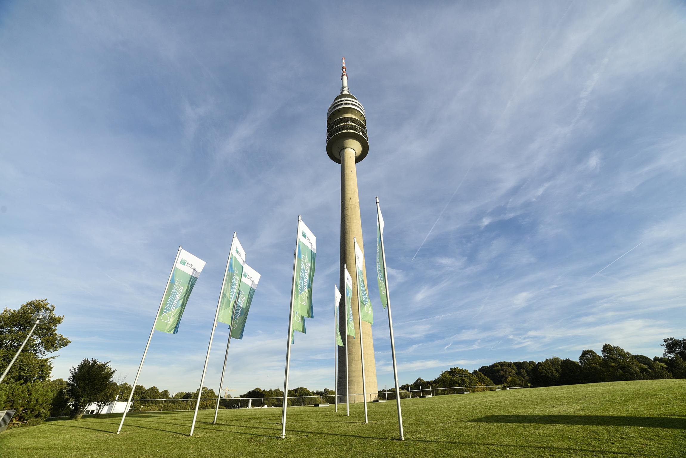 L'Olympiaturm presso l'Olympiapark - Monaco di Baviera