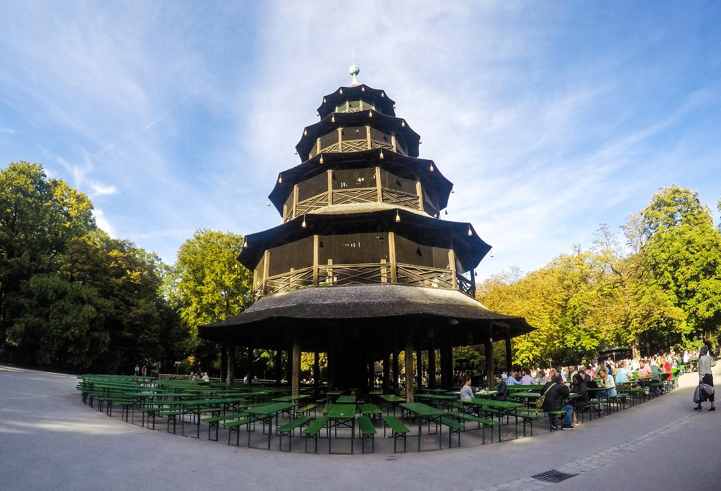 La Torre cinese presso il Giardino Inglese - Monaco di Baviera