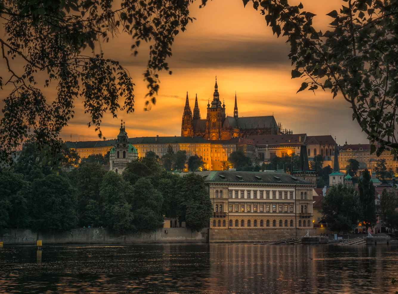 Castello di Praga al tramonto (©Prague City Tourism)