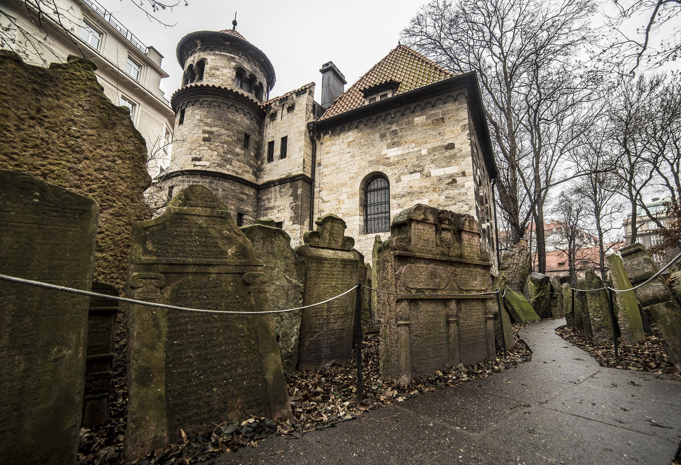 Il Vecchio Cimitero Ebraico e sullo sfondo La Sala delle Cerimonie