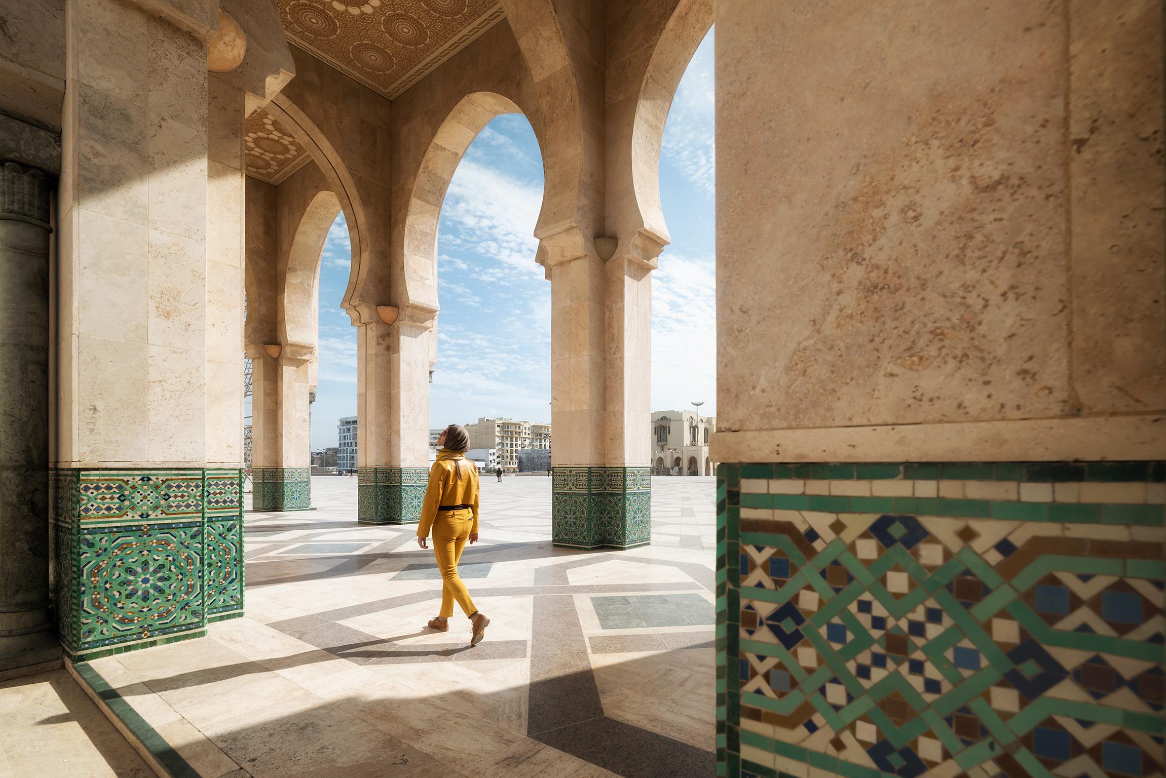 I portici della Moschea di Hassan II