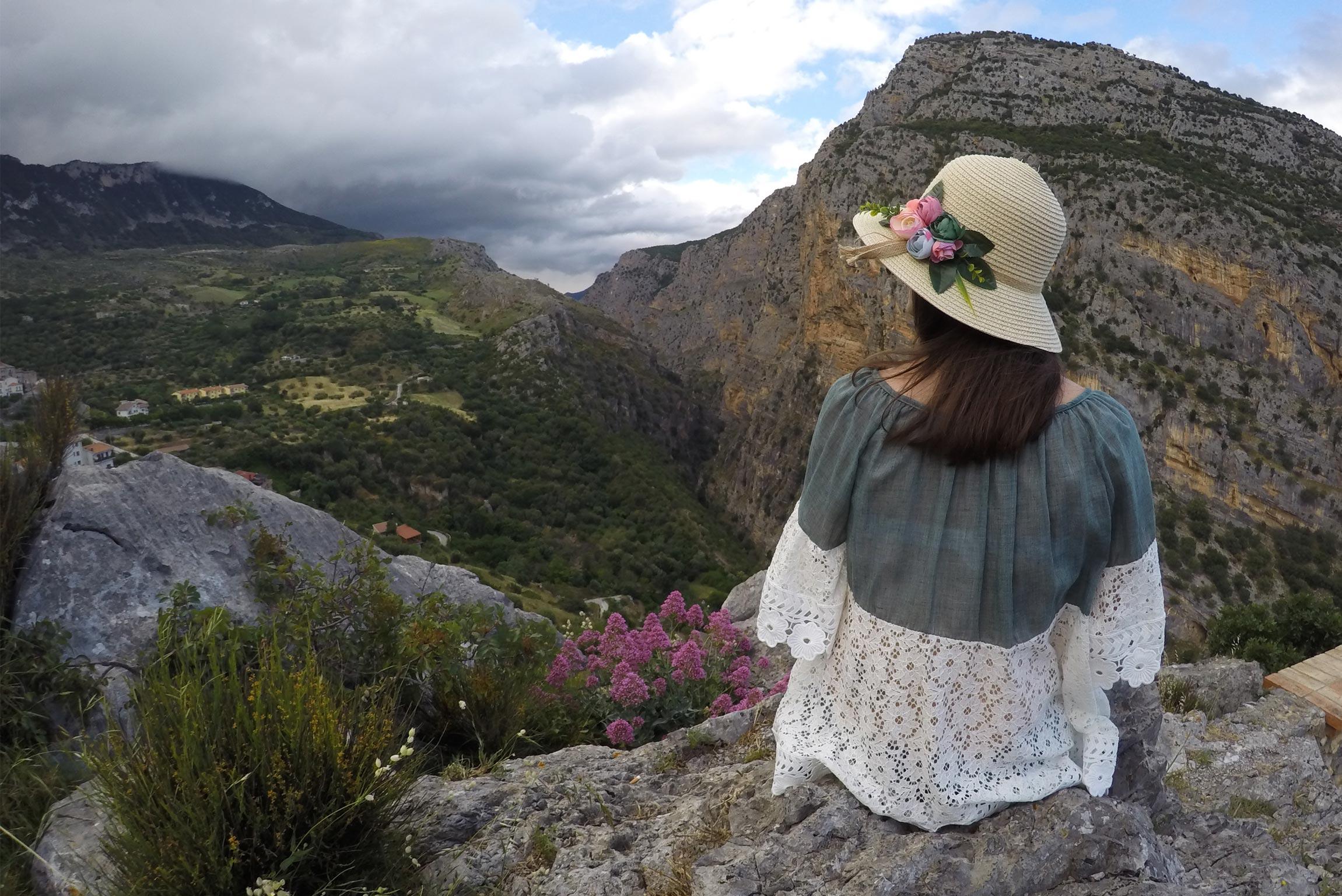 Vista sulle Gole del Raganello dal Belvedere di Civita