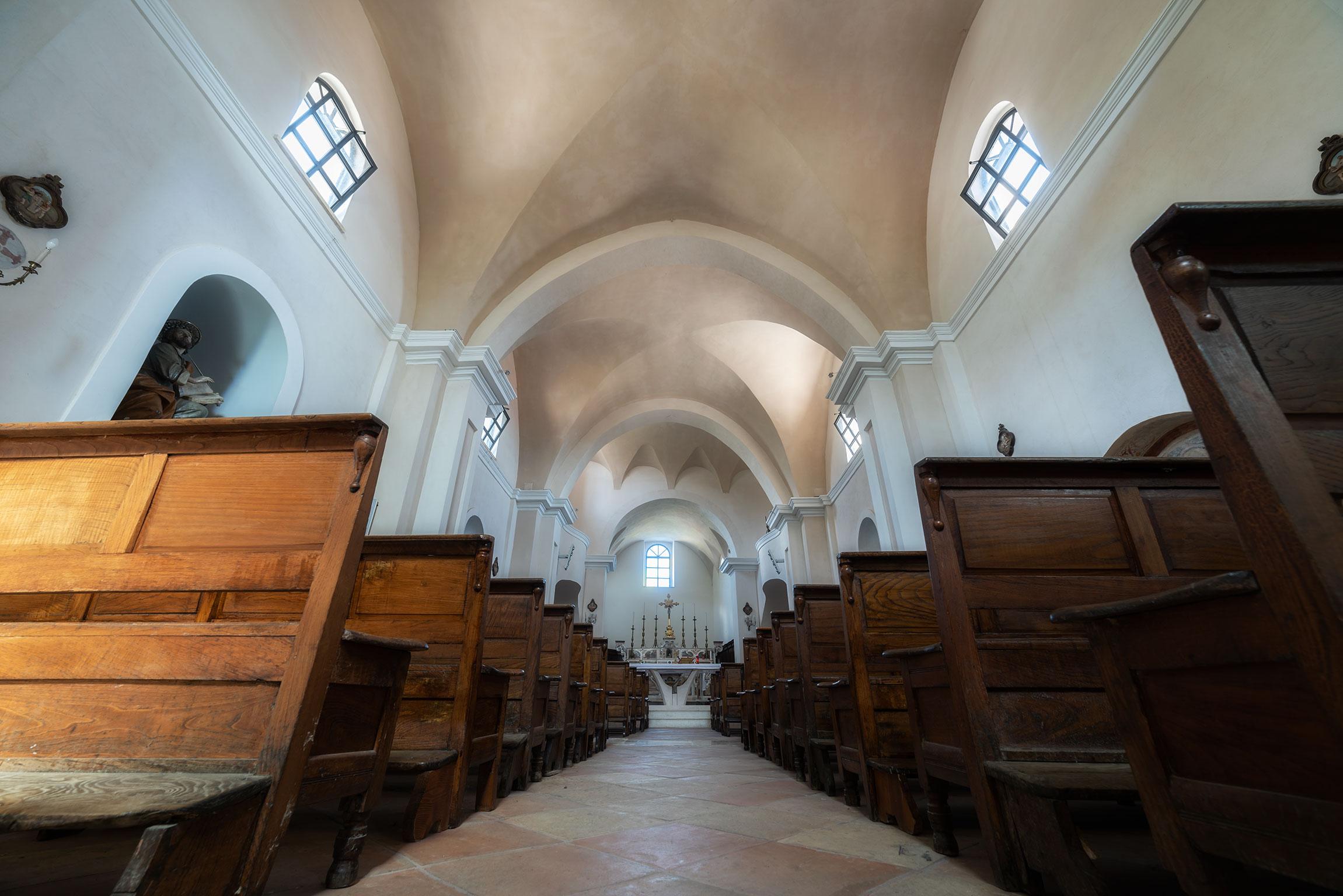 Interno della Chiesa di San Luca Evangelista