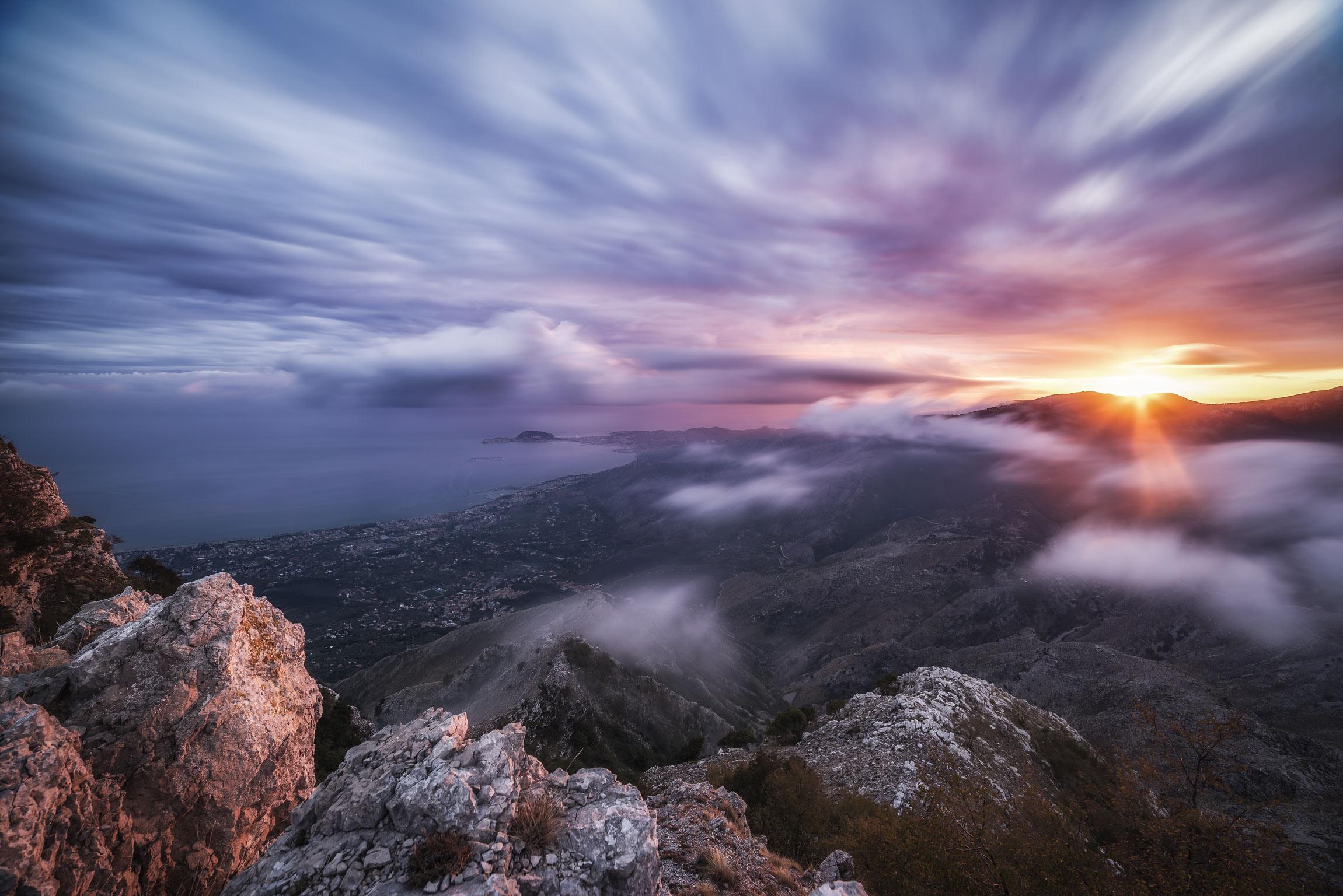 Tramonto dai Monti Aurunci