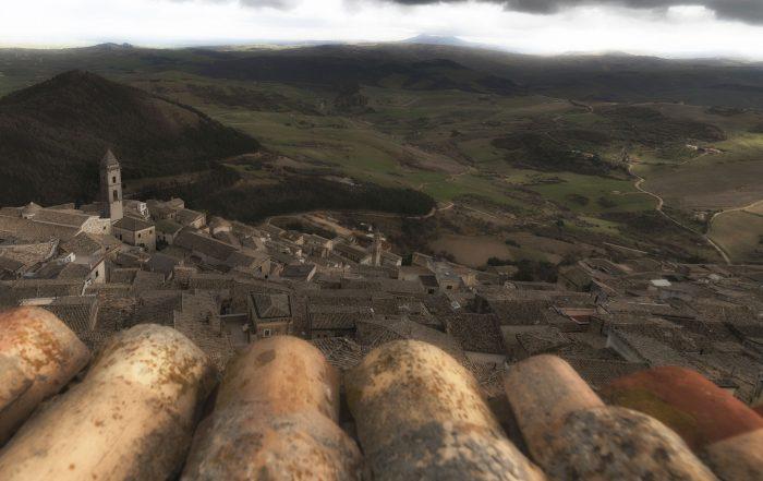 Veduta di Sant'Agata di Puglia dal Castello Imperiale