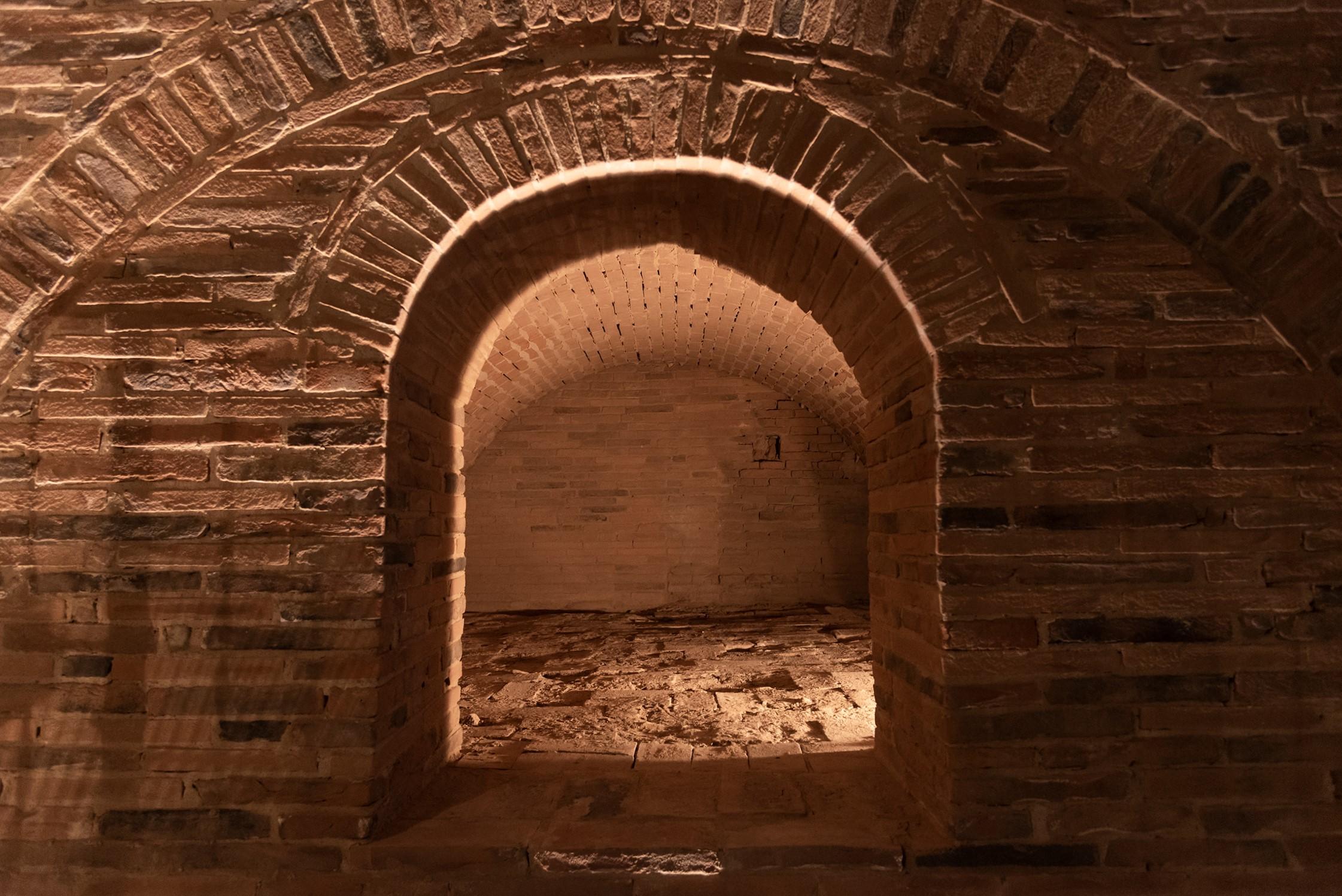 Fornace recuperata presso il Museo della Ceramica di Calcinaia