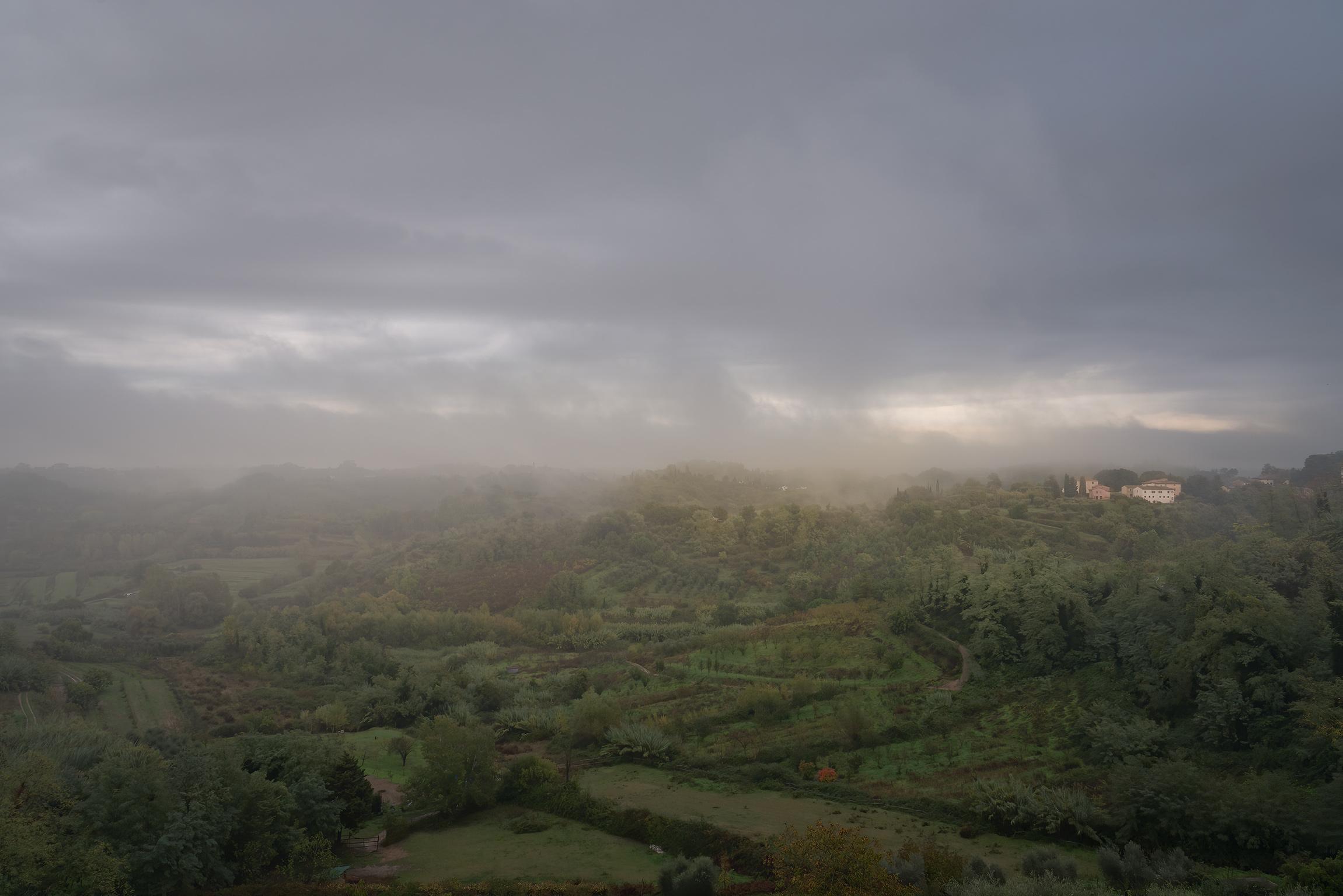 Panorama autunnale dal Castello di Lari (PI)