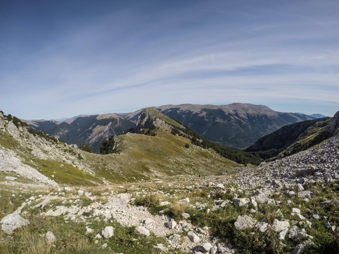 Vista da Passo Cavuto dell'alta Val di Rose