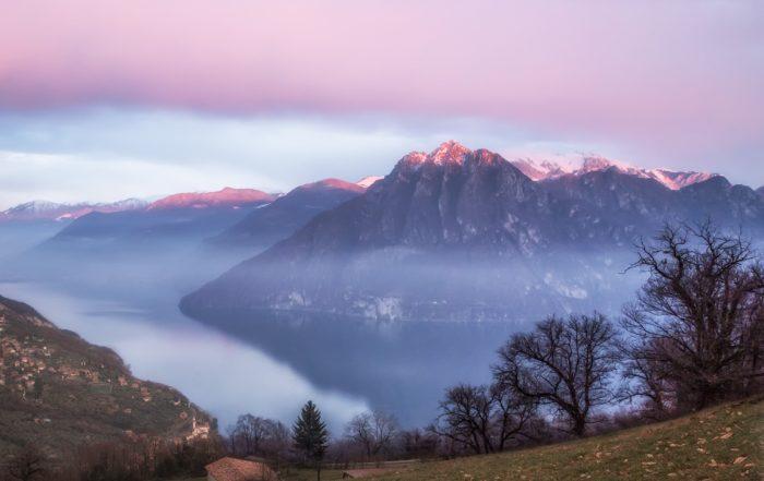 Panorama sul lago d'Iseo dalla Panchina Gigante Riva-Fonteno