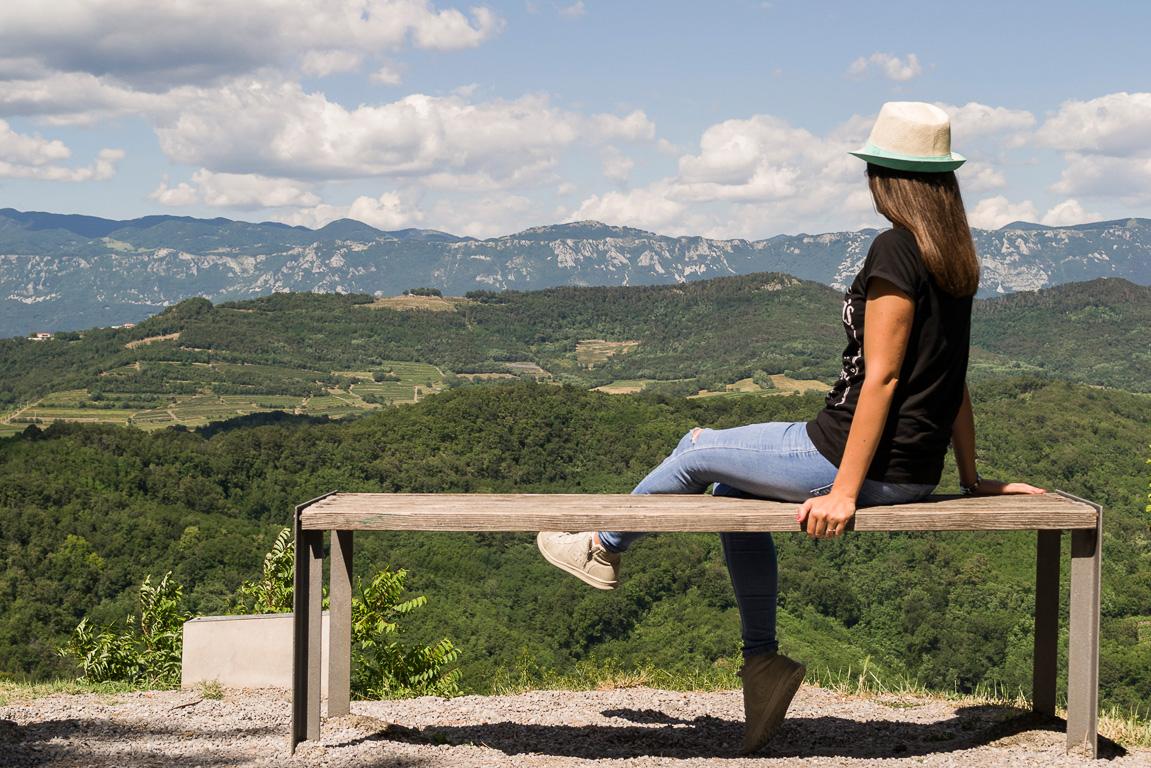 Uno dei belvedere lungo il Sentiero Panoramico Circolare