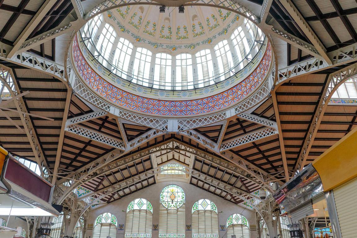 Cupola e particolari architettonici del Mercado Central