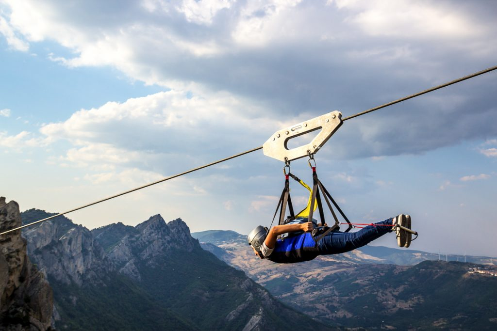 Esperienze attive in Italia: volo dell'Angelo a Pietrapertosa in Basilicata